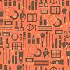 Nahtlose Grunge Hintergrund mit Kosmetik Flach Symbole