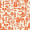 Mexikanischen nahtlose Muster mit Symbolen in einheimischen Stil