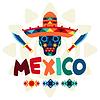 Ethnische mexikanischen Hintergrund-Design im einheimischen Stil