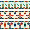 Mexikanischen nahtlose Grenzen mit Symbolen in einheimischen Stil