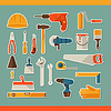 Reparatur und Bau Arbeitswerkzeuge Aufkleber-Symbol