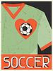 Fußball. Retro Poster im flachen Design-Stil