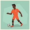 Fußball-Spieler in flachen Design-Stil