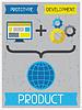 Produkt. Retro Poster im flachen Design-Stil