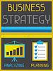Business-Strategie. Retro Poster im flachen Design-Stil