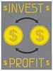 Investieren Gewinn. Retro Poster im flachen Design-Stil