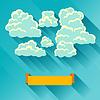 Abstrakt Hintergrund Karte mit Himmel und Wolken