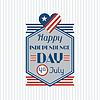 Vereinigte Staaten von Amerika Independence Day Gruß