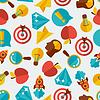 Idee, Konzept nahtlose Muster im flachen Design-Stil