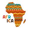 Afrikanischen ethnischen Hintergrund mit verzierten Karte
