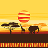 ID 4342140 | Afrikanischen ethnischen Hintergrund mit Savanne | Stock Vektorgrafik | CLIPARTO