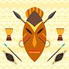 Afrikanischen ethnischen Hintergrund mit Maske