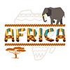 Afrikanischen ethnischen Hintergrund mit geometrischen Ornament
