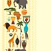 ID 4344930 | Afrikanischen ethnischen samless Muster mit stilisierten Icons | Stock Vektorgrafik | CLIPARTO