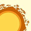 Afrikanischen ethnischen Hintergrund in Design flachen Stil