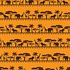 Afrikanischen ethnischen samless Muster in flachen Stil