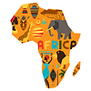 Afrikanischen ethnischen Hintergrund mit Karte