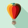 Heißluftballon im flachen Design-Stil