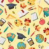 학교 원활한 교육 아이콘 패턴 | Stock Vector Graphics