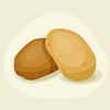 Stilisierte frischen reifen Kartoffeln
