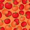 Nahtlose Muster mit frischen reifen Tomaten