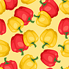 Nahtlose Muster mit frischen, reifen Paprika
