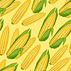 Nahtlose Muster mit frischen, reifen Maiskolben