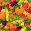 Nahtlose Muster mit stilisierten frische reife Gemüse