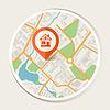 Stadtplan abstrakten Hintergrund mit Marker Hause