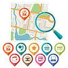 Stadtplan abstrakten Hintergrund mit Satz von verschiedenen