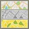 Stadtplan abstrakte horizontale Banner Hintergrund