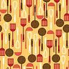 Nahtlose Muster mit Restaurant und Küche