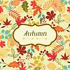 Antecedentes de estilizadas hojas de otoño para el saludo | Ilustración vectorial