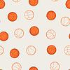 Sport nahtlose Muster mit Basketball-Ikonen in