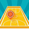 Sport Hintergrund mit Basketballplatz und Marker
