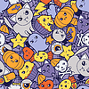 Nahtlose Halloween kawaii Muster mit niedlichen doodles