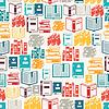 Nahtlose Muster mit Bücher in flachen Design-Stil