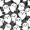 Nahtlose Halloween kawaii Cartoon-Muster mit