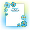 Diseño de tarjeta de invitación con bastante estilizada | Ilustración vectorial