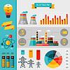 산업 전력 인포 그래픽의 전기 집합 | Stock Vector Graphics