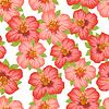 Векторный клипарт: Бесшовные цветочный узор с довольно стилизованные цветы