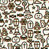 Векторный клипарт: Счастливый Хэллоуин бесшовные модели с эффектом наложения