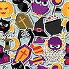 Happy Halloween nahtlose Muster mit Flach Aufkleber