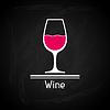Векторный клипарт: с бокалом вина на обложке меню