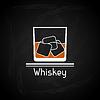 Векторный клипарт: с бокалом виски для обложки меню