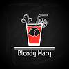Векторный клипарт: с бокалом Кровавой Мэри для обложки меню