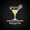 Векторный клипарт: с бокалом Маргариты для обложки меню