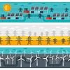 Векторный клипарт: Бесшовные модели из промышленных электростанций в FLA