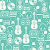 Векторный клипарт: Бесшовные с музыкальными инструментами в квартиру