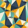 Векторный клипарт: Абстрактный графический фон многоугольника треугольника